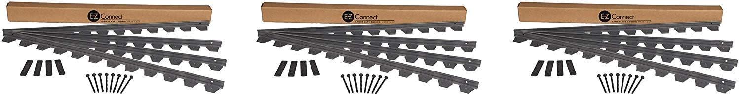 Dimex E-Z Connect Plastic Multipurpose Paver and Landscape Edging Project Kit, 24-Feet, Black 1506BK-24C Pack of 3