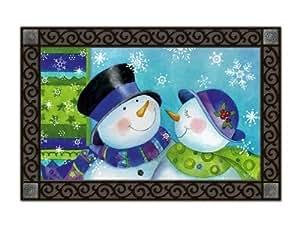 Snow Couple Indoor/outdoor Doormat