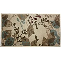 Fashion Contemporary Traditional Non-Skid Woven Area Rug, 23x36, Perfect for Living Room, Kitchen, Bed Room, Loft, Office and more-Hula Flower