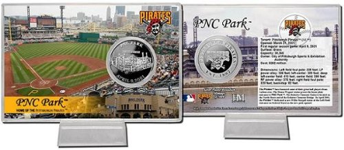 (The Highland Mint Pittsburgh Pirates PNC Park Silver Plate Coin Card)