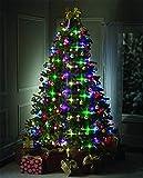 Christmas Tree Light Garland, Christmas Decoration, Multicolor Hanging Lights Indoor Party Garden Patio Bedroom Wedding Decor (64 LED)