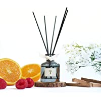 Hilton Inspired Hotel Reed Diffuser Set | Reed Diffuser Sticks with Oil 50ml | Scented Diffuser with Notes of Tangerine…