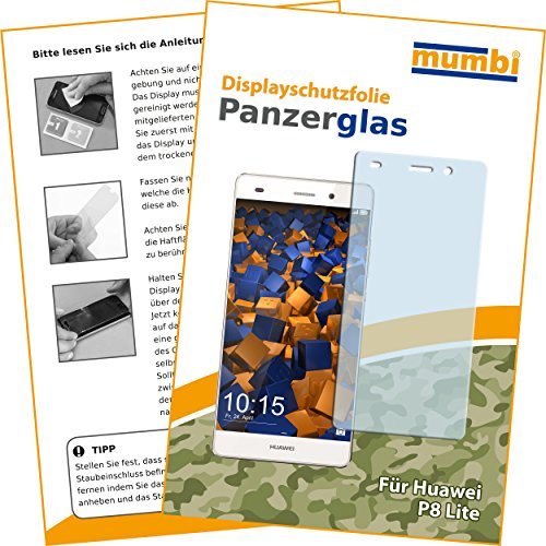 mumbi Panzerglasfolie Huawei P8 Lite Glasfolie Hartglas 9H