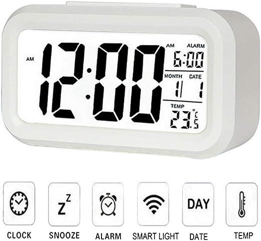 Ourine Reloj Digital Despertador De Cabecera Pantalla Grande Pantalla LED Despertador parael Hogar y La Oficina: Amazon.es: Hogar