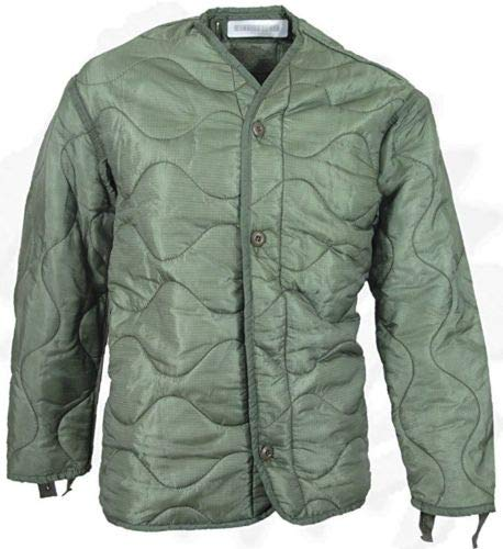 (Field Jacket Liner, M-65, Olive Drab-Genuine Military Issue, Small - NSN:8415-00-782-2887)