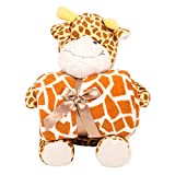 Snoozies Plush Animal with Matching Throw Blanket - Giraffe