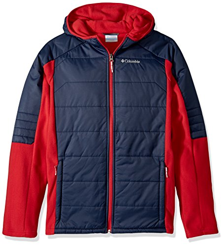 Columbia Little Boys' Fast Trek Hybrid Jacket, Mountain Red, Collegiate Navy, XX-Small - Alpine Fleece Jacket