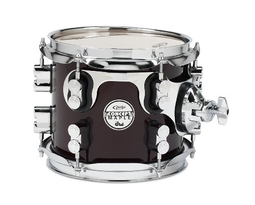 Pacific Drums PDCM0708STTC 7 x 8 Inches Tom with Chrome Hardware - Transparent Cherry