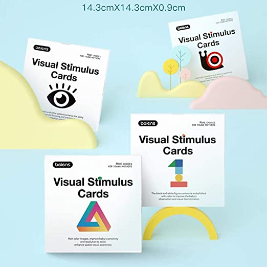 SmallPocket Paquete de 4 Tarjetas cognitivas para bebés, Tarjeta de Actividades de Aprendizaje de estimulación Visual Colorida de Alto Contraste Tarjeta de Memoria Flash para bebés de 0 a 3 años: Amazon.es: Hogar