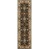 Safavieh Antiquities Collection AT249B Handmade Traditional Oriental Black Wool Runner (23 x 10)