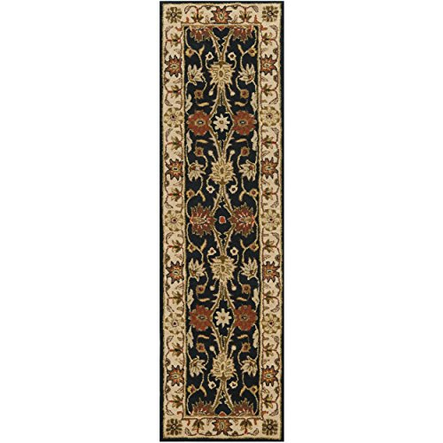 Safavieh Antiquities Collection AT249B Handmade Traditional Oriental Black Wool Runner (2'3