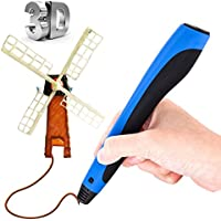 3D Printing Pen, Thecoo Intelligent 3D Pen 3D Pencil with OLED Display Include 3 Free 1.75 mm Filament Refills for Creating Childrens Imagination and 3D Modeling Practical Ability