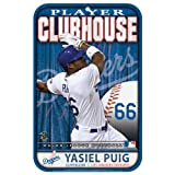 MLB Los Angeles Dodgers Yasiel Puig Styrene Sign, 11 x 17-Inch