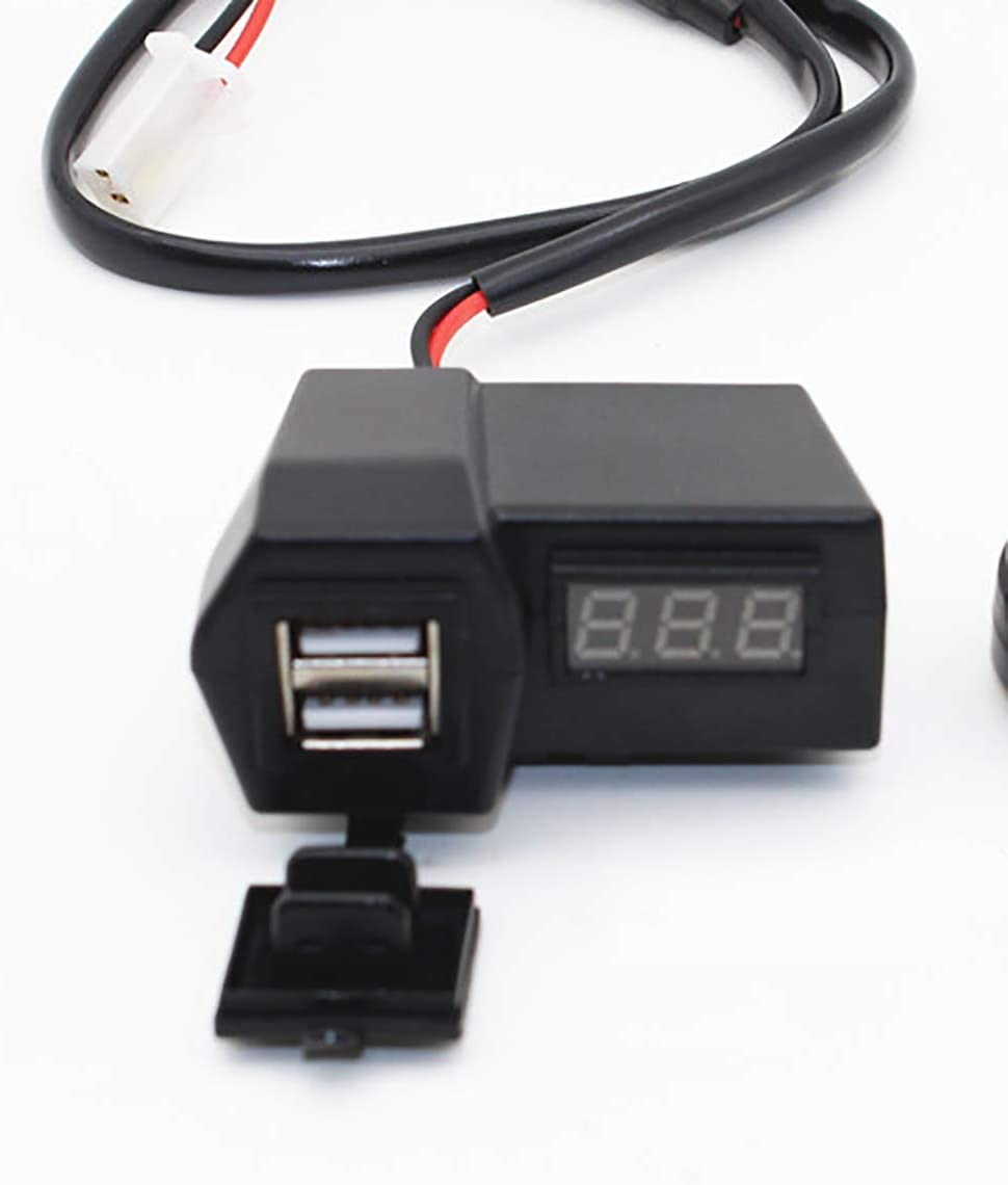 DLYZHUA USB Charger Mobile Phone Motorcycle Charger 3.1A Digital Display Voltmeter Waterproof Universal