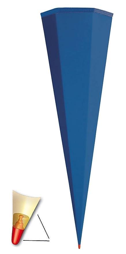 Unbekannt Schult/üte Rohling 35 cm mit Kreppabschlu/ß Zuckert/üte hell Gr/ün Bemalen und Bekleben Bastelschult/üte zum Basteln
