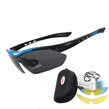 PENVEAT Gafas de sol para ciclismo, 3 lentes, polarizadas ...