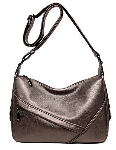 Women's Retro Sling Shoulder Bag from Covelin, Leather Crossbody Tote Handbag ()