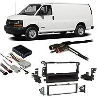 Fits Chevy Full Size Van Express 03-07 Single DIN Harness Radio Dash Kit