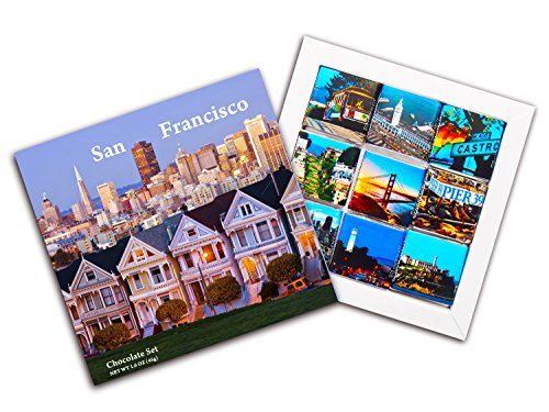 Tower Light Island - DA CHOCOLATE Candy Souvenir SAN FRANCISCO Chocolate Gift Set 5x5in 1 box (Housing)