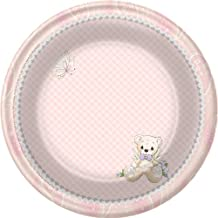 Precious Moments Baby Shower Plates - Baby Girl Baby Shower Dessert Plates - 8 Count