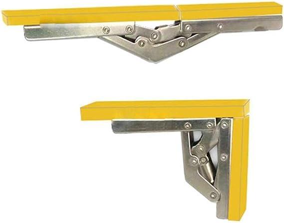 paquete de 2 soporte plegable para puerta//estante bisagras ocultas Soporte de soporte de /ángulo de 90 grados accesorios de muebles