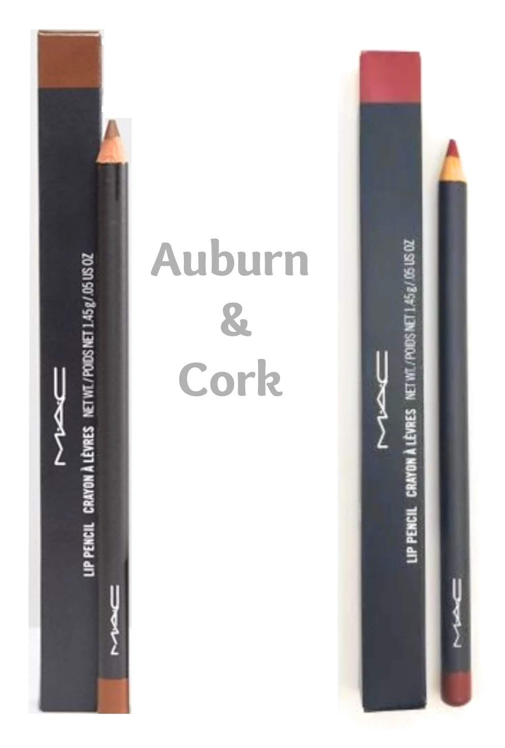 Set of 2 MAC Lip Care - Lip Pencil - Auburn by MAC