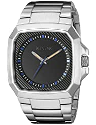 B00EO50Z9S: Nixon Mens A308-1529-00 Deck Analog Display Japanese Automatic Silver Watch