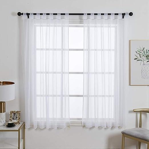 ZebraSmile Cortina de 1 panel, cortinas transparentes para sala de ...