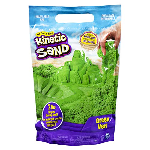 Kinetic Sand The Original Moldable Sensory Play Sand, Green, 2 -