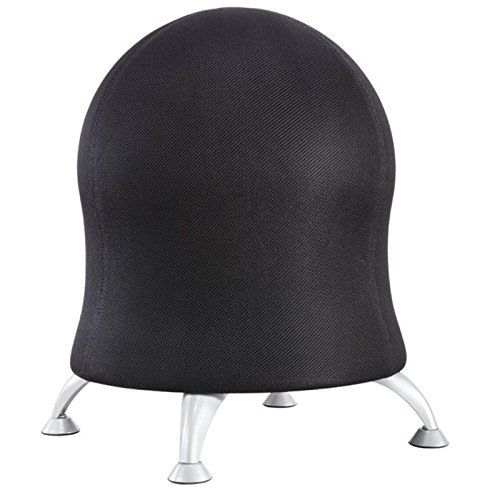 (Safco Products Zenergy Ball Chair , Black, Low Profile, Active Seating, Steel)