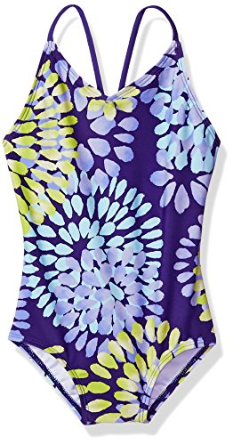 Daisy Kids (Kanu Surf Big Girls' Daisy Beach Sport 1-Piece Swimsuit, Purple, 7)