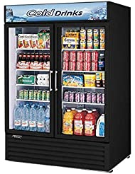 Turbo Air TGM50RSB 35 cu. ft. Glass Door Merchandiser Refrigerator with Energy Conserving Fan Control Double Pane Glass Doors Adjustable Shelves and Hot Gas Condensate System: