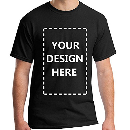 Baranovo Men Custom Add Your Personalized Design Photo Text Name Here Cotton T-Shirt