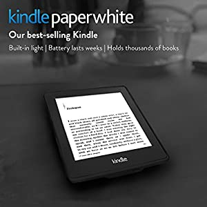 """Kindle Paperwhite, 6"""" High Resolution Display (212 ppi) with Built-in Light, Wi-Fi (Previous Generation - 6th) by Amazon"""