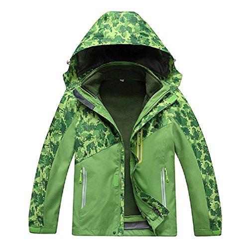 Vinmin ValentinA Boys Girls Outdoor Winter Two-piece Coat 3-1 Children Thicken Velvet Detachable Warm Quilted Jacket (Jacket Warmest Snowboard)