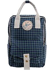 Micoop Waterproof Check Backpack Handbag Travel School Bag for Girls and Women