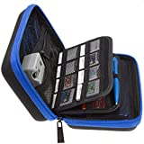 (US) Brendo New Nintendo 3DS XL, 2DS XL and 3DS Carrying Case with 24 Game Cartridge Holders and Large Stylus - Black/Blue