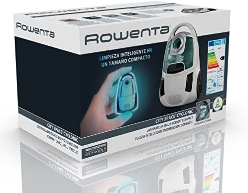 Rowenta RO2727EA City Space Cyclonic Aspirador sin Bolsa, Tecnología ciclónica, Compacto, 78 dB, 750 W, Marfil y azul: Amazon.es: Hogar