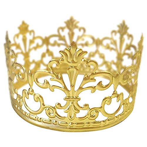 BESTONZON Tiara Crown/Gold Cake Crown Topper Crown Hair