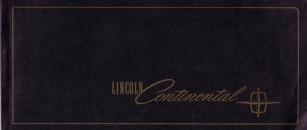 1965 Lincoln Continental Owners Manual User Guide Reference Operator Book