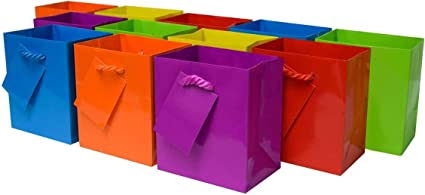 High Quality 100 Premium Assorted Color Gift Bags