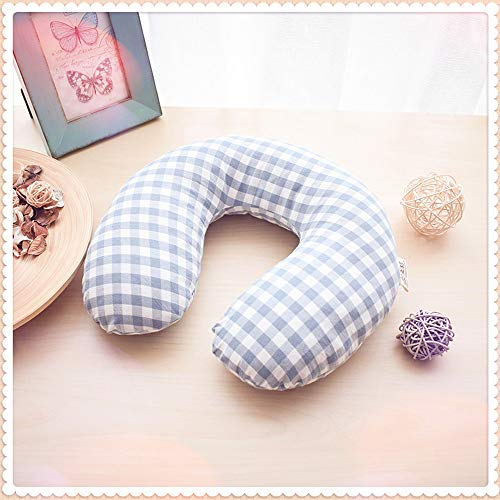 Edomi Buckwheat Neck Pillow, Breathable U Shaped Pillow Ergonomic Travel Head Pillow Cervical Neck Cooling Pillows for Sleeping - Buckwheat Hulls Filling, Double Fabric, Removable Cotton Cover ()