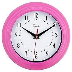 Equity by La Crosse 25017 Analog Wall Clock 8, Pink