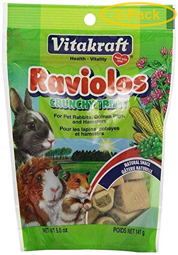 Vitakraft Raviolos Crunchy Treat for Pet Rabbits, Guinea Pigs & Hamsters, 10 Ounce Pouch