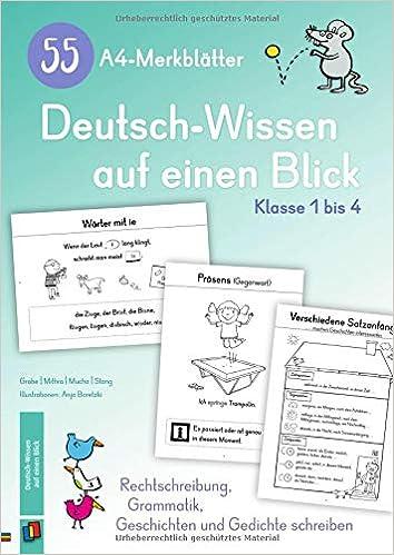 55 A4 Merkblätter Deutsch Wissen Auf Einen Blick Klasse 1