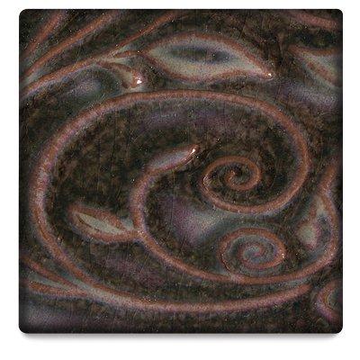 Amaco Opalescent Glaze - Pint - O-57 Mottled Burgundy (Raku Glazes)