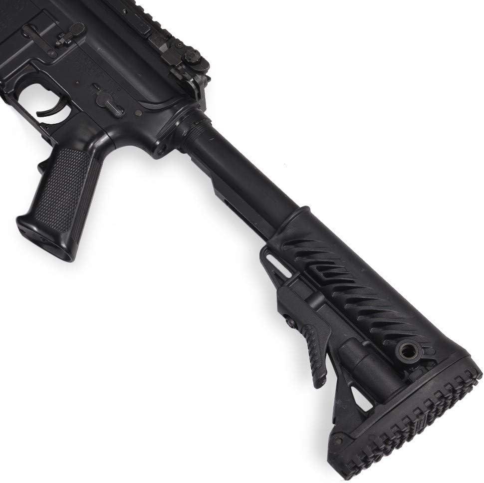 FABディフェンス 実物 GLR-16 AR15 M4対応 電池収納付ストック [ ブラック ] FAB-Defense ファブディフェンス電動ガン ガスガン