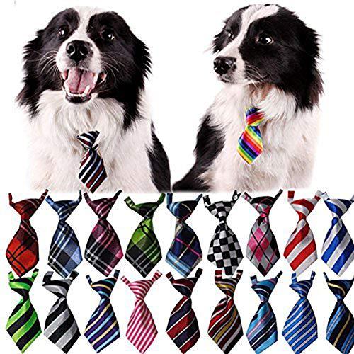 Bestag 30 Pcs/pack Cat Dog Bow Tie Collar - Pet Neckties (30 Pcs/pack)