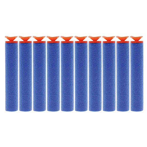 AMTION 100pcs 7.2cm Refill Bullet Universal Suction Darts for Nerf N-Strike Elite Series Blasters Toy Gun Nerf Ammo (Darts Cup Suction)