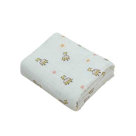 Boshiho muselina algodón doble cálido bebé manta y toalla de baño para bebés recién nacidos,